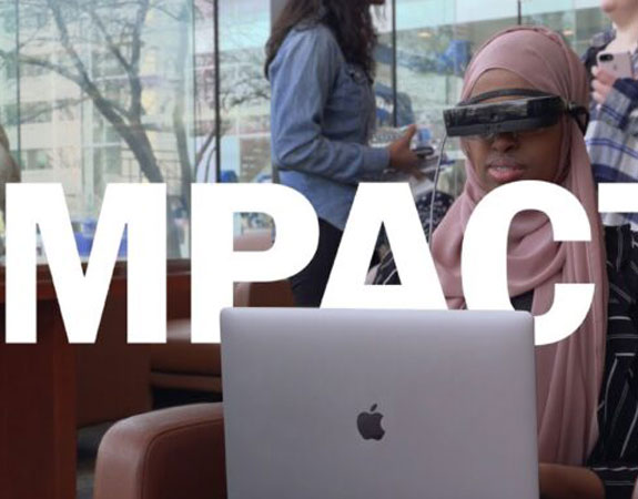 Young woman participates in Harvard University's Hack-a-thon