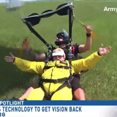 Dr. Mary skydives despite living with optic neuritis.