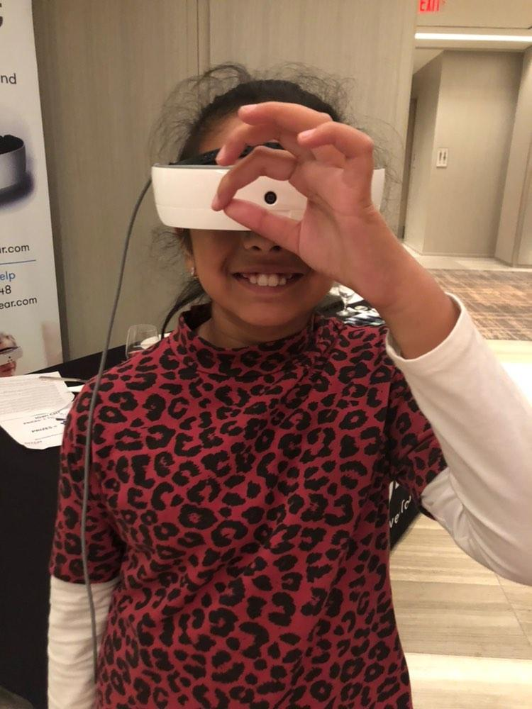 Zora Ghandi lives with Leber's Congenital Amaurosis. She uses her newly gifted eSight to see.