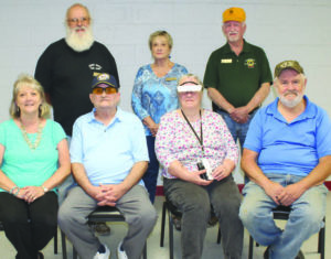 Lions Club hosted eSight evaluations, Larry is pictured seated second from the left.