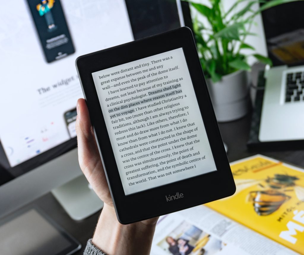 Kindle, a type of low vision assistive technology