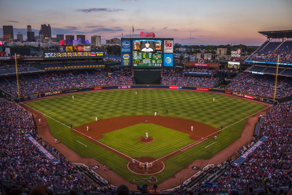 Jason smetters is a legally blind baseball fan who enjoys using eSight Eyewear while watching games, like at the baseball diamond featured in this photo.